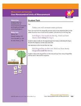 Uses Nonstandard Units of Measurement (Math Assessment PreK)