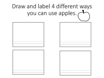 Uses for apples worksheet
