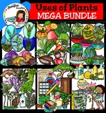 Uses of Plants clip art  Big set of 122 items!