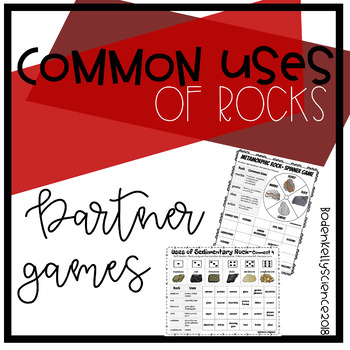 Uses of Sedimentary Rock Game