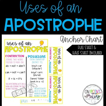 Uses of an Apostrophe Anchor Chart