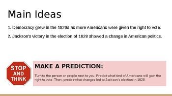 Ushering in Andrew Jackson (Notes)