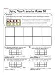 Using 10 Frame to Make 10 - Worksheet