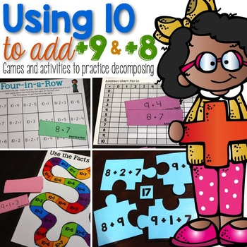 Using 10s to Add (+9 & +8)