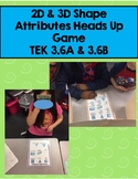 Heads Up!  2D and 3D Shape's Attributes