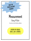 Using A Ruler: Practicing Linear Measurement *Virtual or P
