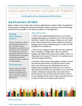 Using ABA in the Home