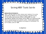 Using AND Task Cards