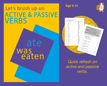 Using Active And Passive Verbs (Improve Your English Work Packs) 9-14 years