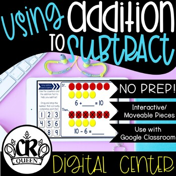 Using Addition to Subtract Activity for Google Classroom