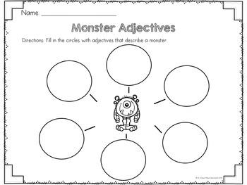 Adjectives: Describe the Noun {Fall Edition}