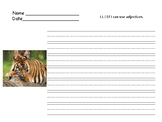 Using Adjectives-Writing paper