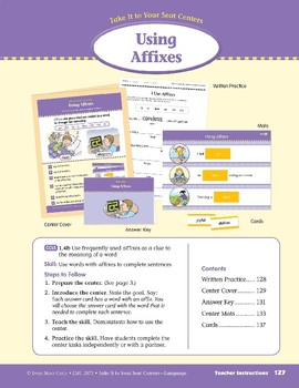 Using Affixes (Take It To Your Seat Centers: Common Core Language)
