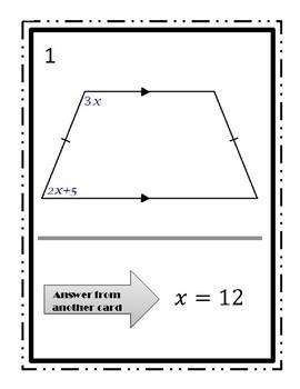 TRAPEZOIDS Walk-Around Activity - Using Algebra in Geometry