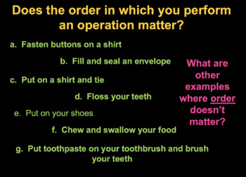 Using Algebraic Properties to Simplify Expressions Power Point Common Core