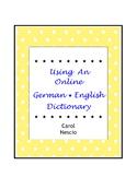 Using An Online German * English Dictionary ~ German Dista