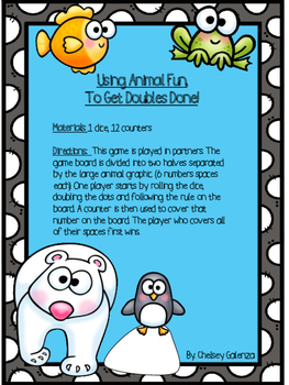 Using Animal Fun, To Get Doubles Done!: Doubles Games