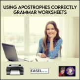 Using Apostrophes Correctly Grammar Worksheets