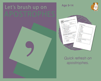 Using Apostrophes (Improve Your English Work Packs) 9-14 years