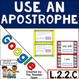 Apostrophes in Contractions and Possessives   Google Classroom Activities