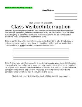 Using BLOOM'S to teach Classroom Procedures