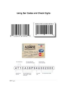 Using Bar Codes & Check Digits