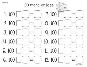Using Base 10 to add/sub 10 and 100