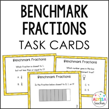 Benchmarks Fractions Task Cards