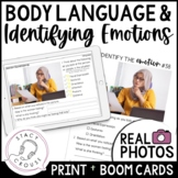 Using Body Language to Identify Emotion Social Skills with BOOM CARDS™ Version