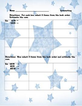 Estimate the sum using book orders!