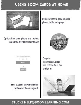 Using Boom Cards at Home Parent Letter - Grayscale