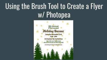 Using Brushes to Create a Flyer w/ Photopea - Works with Chromebooks!