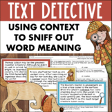 CONTEXT CLUES Activities Using Text to Determine Word Meaning
