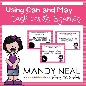 Using Can and May Grammar Task Cards, Games, and Centers
