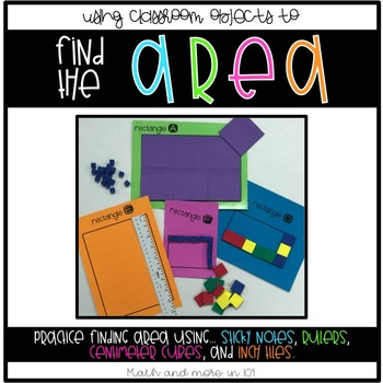 Using Classroom Objects to Find the Area