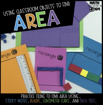 Find the Area using Classroom Objects