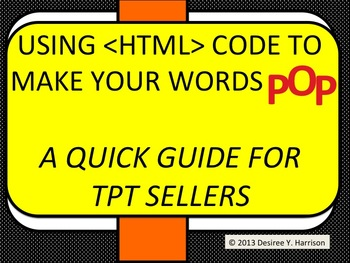 Using  Codes to Make your Product POP! - A Quick Guide for TPT Sellers
