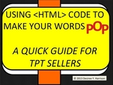 Using  Codes to Make your Product POP! - A Quick Guide for