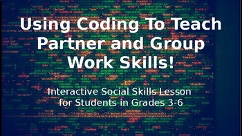 Using Coding To Teach Partner + Group Work Skills!