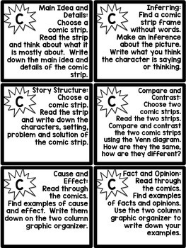 Using Comics in the Classroom- Activities for Workstations or Early Finishers