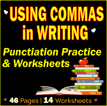 Using Comma in Writing | Punctuation Practice and Worksheets | Commas | Gr 7-8