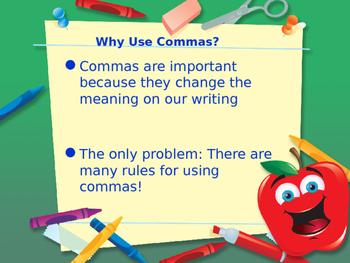 Using Commas Power Point