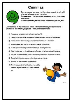 Using Commas Practice