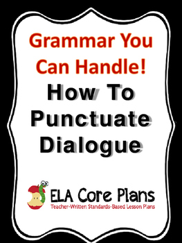 Using Commas & Quotation Marks to Mark Direct Quotes & Quo