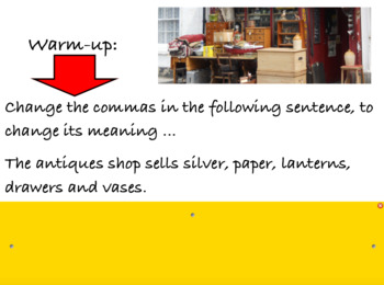 Using Commas Year 3 and 4