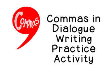 Using Commas in Dialogue Practice Punctuation Writing Acti
