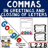 Using Commas in Greetings and Closing of Letters for Googl