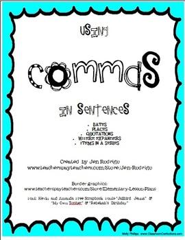 Using Commas in Sentences