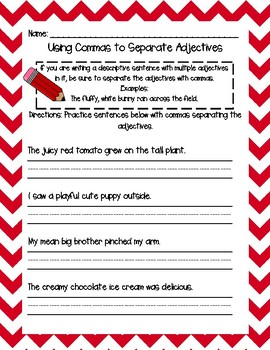 Using Commas in the Elementary Classroom