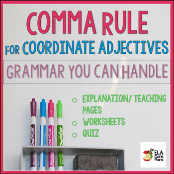 Using Commas to Separate Coordinate Adjectives ~ Teach! Practice! Quiz!